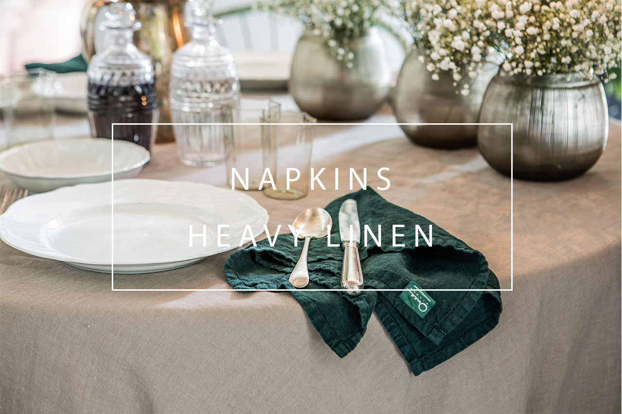 linen napkins with roll hem