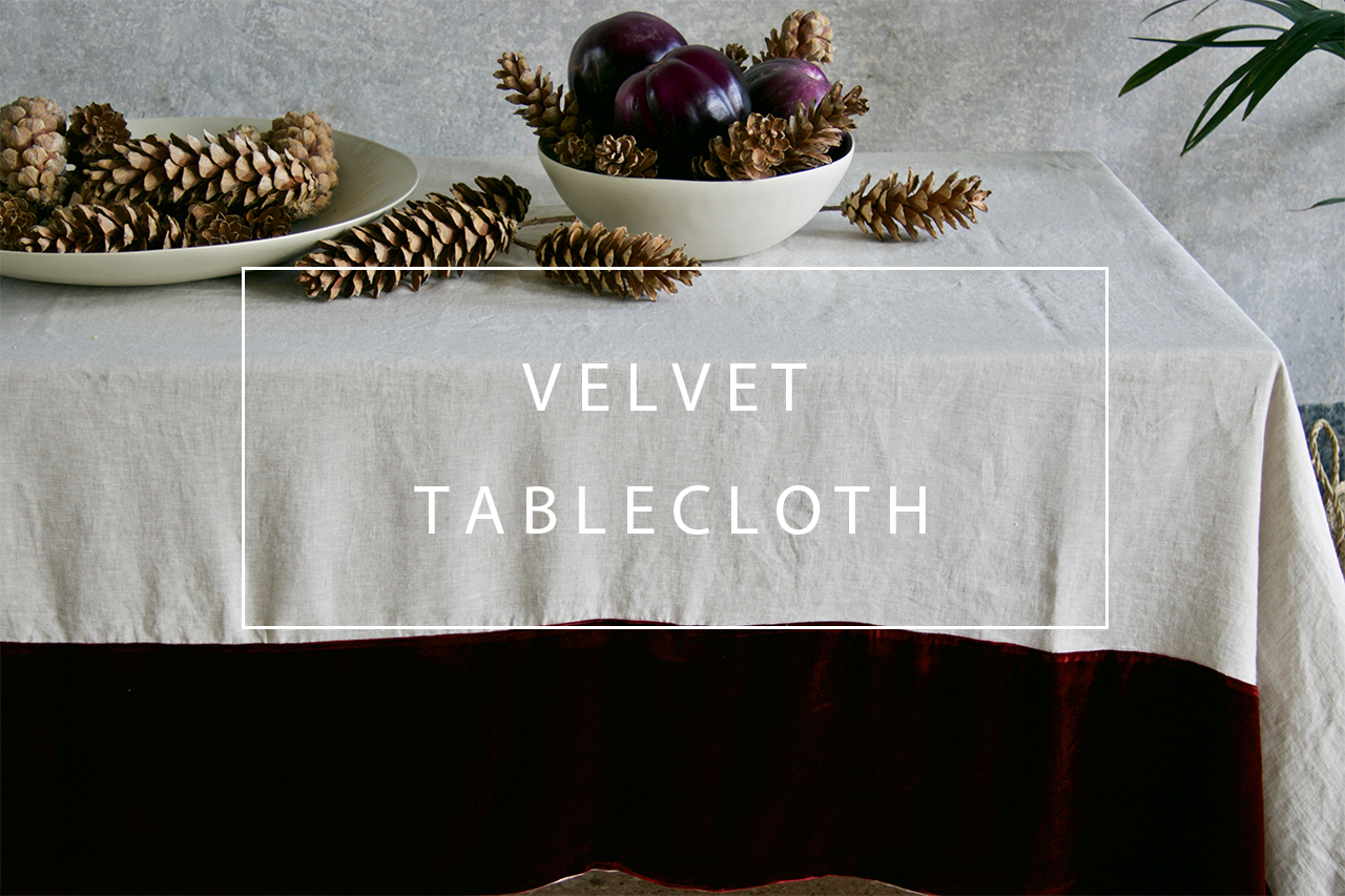 luxurious velvet tablecloth