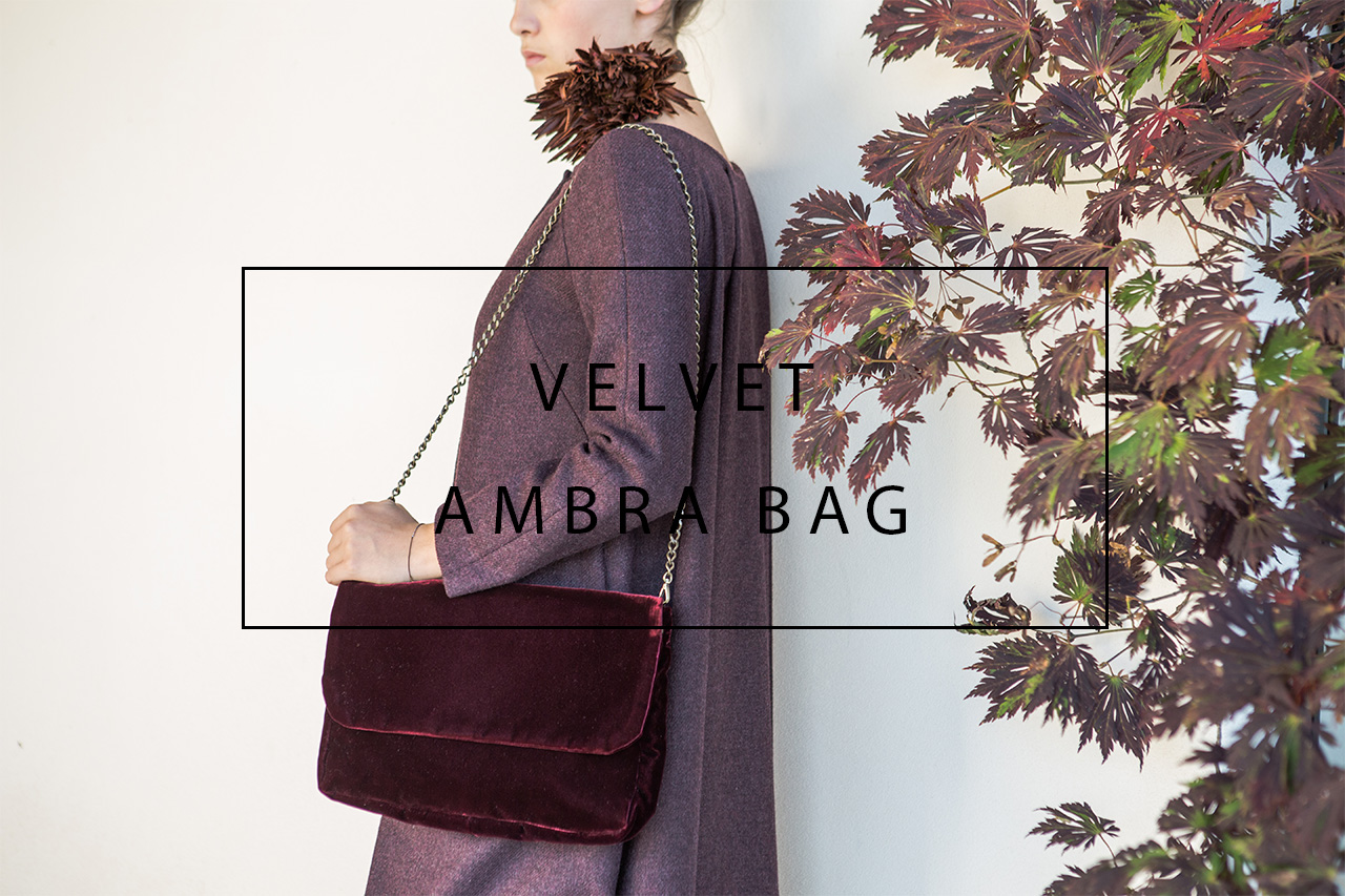 luxurious velvet ambra bag