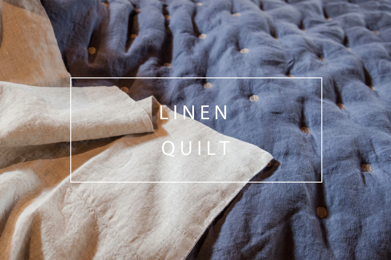 luxurious linen quilt