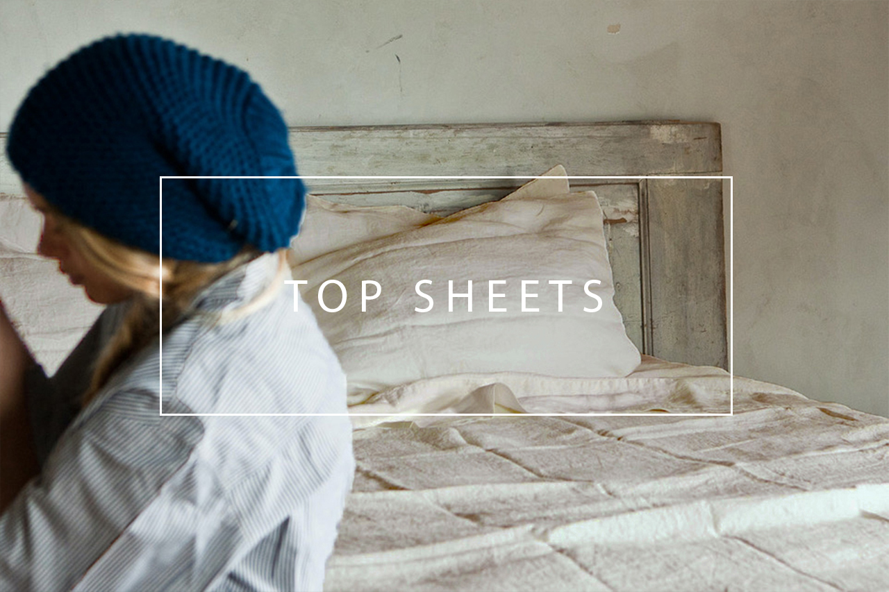 luxurious linen top sheet