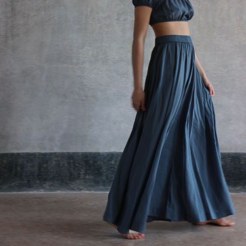 Thyme,long skirt cotton and silk