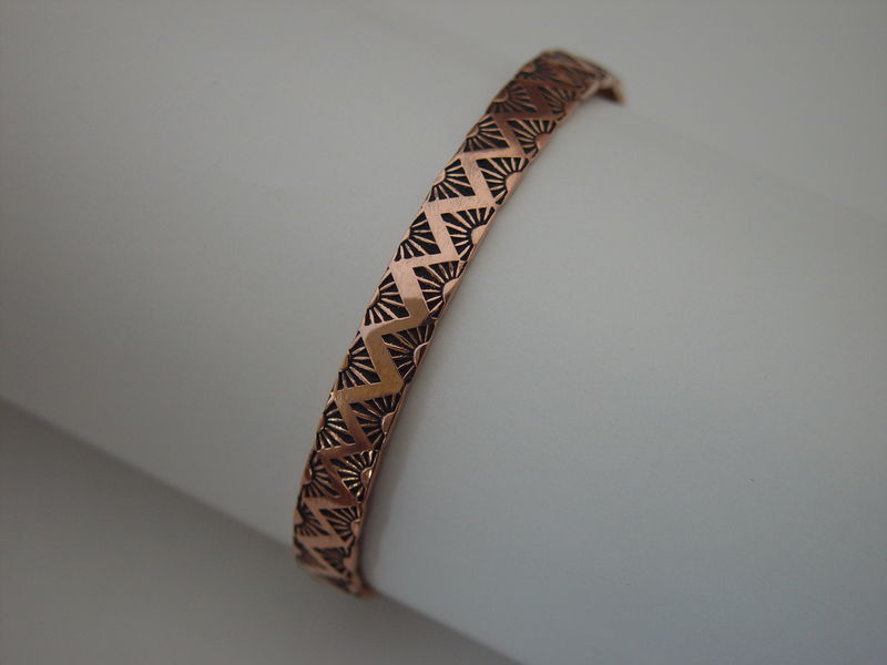 Hand Stamped Copper Bracelet - product images  of