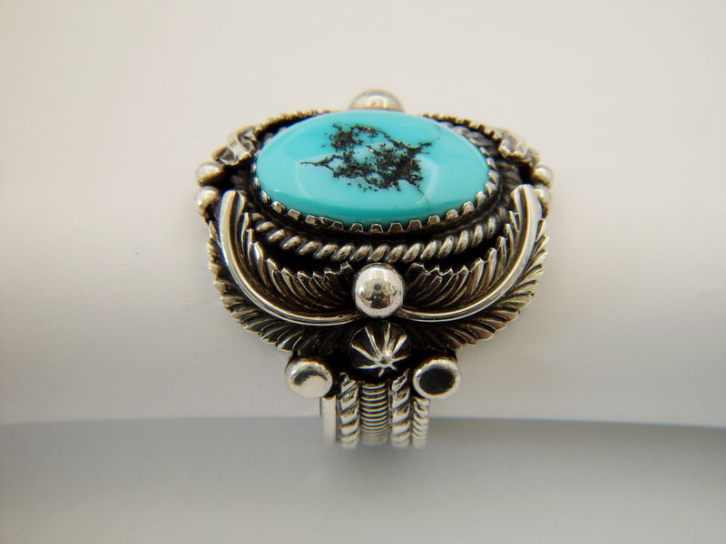 Natural Sleeping Beauty Turquoise Set in Sterling Silver Ring - product images  of
