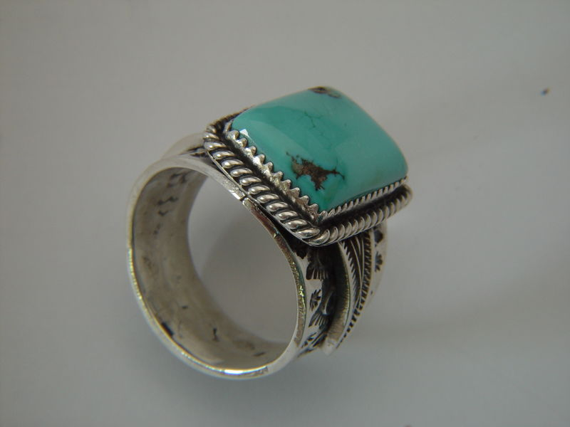 Natural Nevada Turquoise Set in Sterling Silver - product images  of