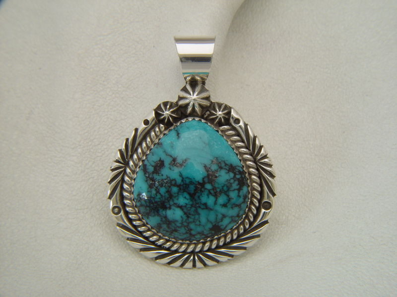 Natural Turquoise set in Sterling Silver - product images  of