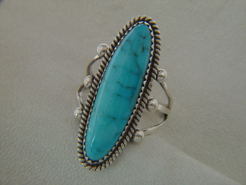 Kingman Turquoise Set in Sterling Silver - product images  of