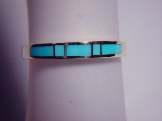 Sleeping Beauty Turquoise in 3.5 mm Wide 14 Karat Gold Ring - product images  of