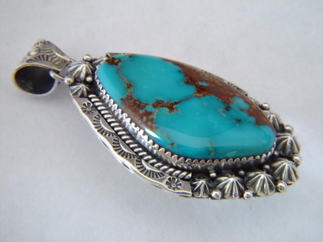 High Grade Bisbee Turquoise Pendant - product images  of