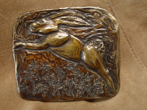 Fine,Art,Bronze,Belt,Buckle,by,Stephanie,Carusetta, Belt Buckle, custom buckle, carusetta, rabbit, bunny