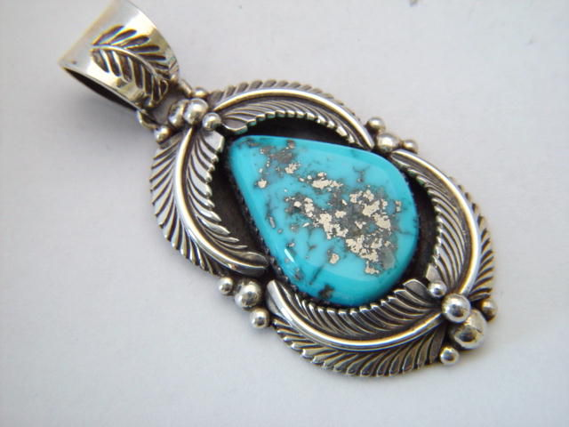 High Grade Morenci Turquoise Pendant - product images  of
