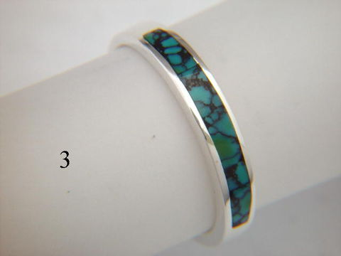 Turquoise,and,Silver,Inlay,Ring,~,3.5,mm,Inlay Ring, Turquoise  Inlay, Silver and Turquoise, silver ring, wedding ring, Inlay wedding band, Inlay wedding ring, carusetta
