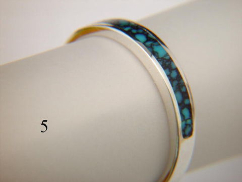 Turquoise,and,Silver,Inlay,Ring,-,3.5,mm,wide,Inlay Ring, Turquoise  Inlay, Silver and Turquoise, silver ring, wedding ring, Inlay wedding band, Inlay wedding ring, carusetta