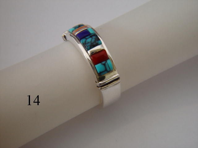 Multi-stone inlay  - 7 mm wide - product images  of