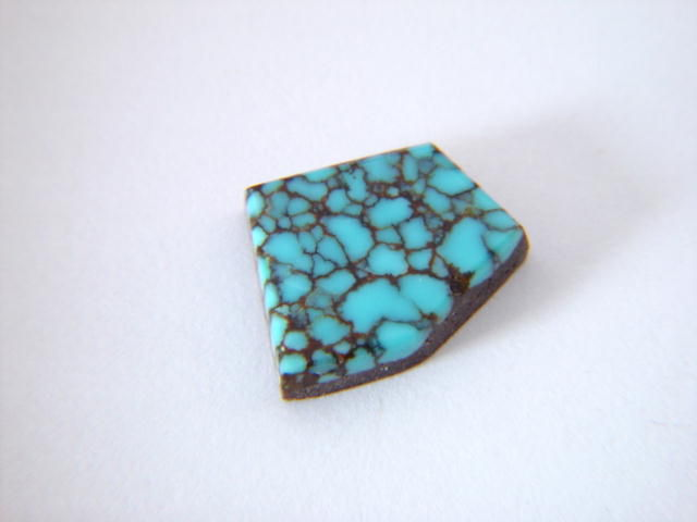 High Grade Spider Web Turquoise Custom Set in Sterling Silver - product images  of