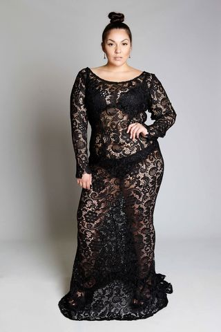 ALEX,dress, lace, plussize