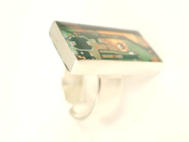 Recycled Green Motherboard Ring - product images  of