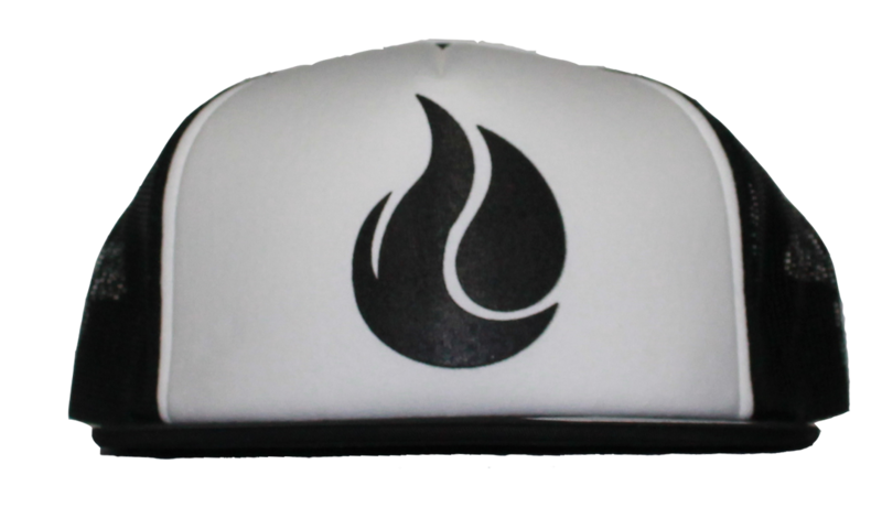 White/Black Fireunderwater Trucker Snapback - product images  of
