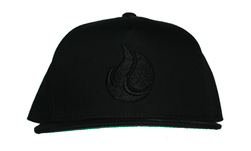 Fireunderwater Black on Black Snapback - product images  of