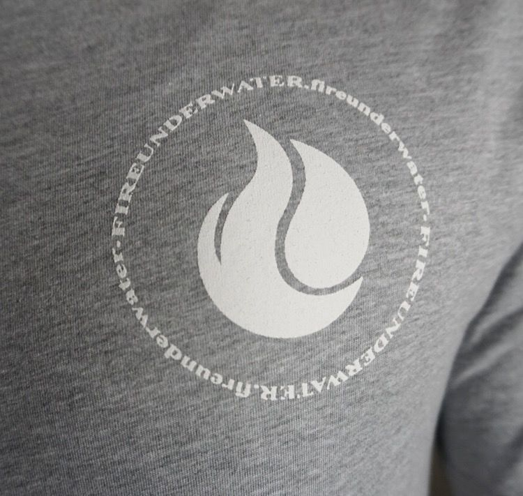 Fireunderwater White Logo Scoop Tee - product images  of