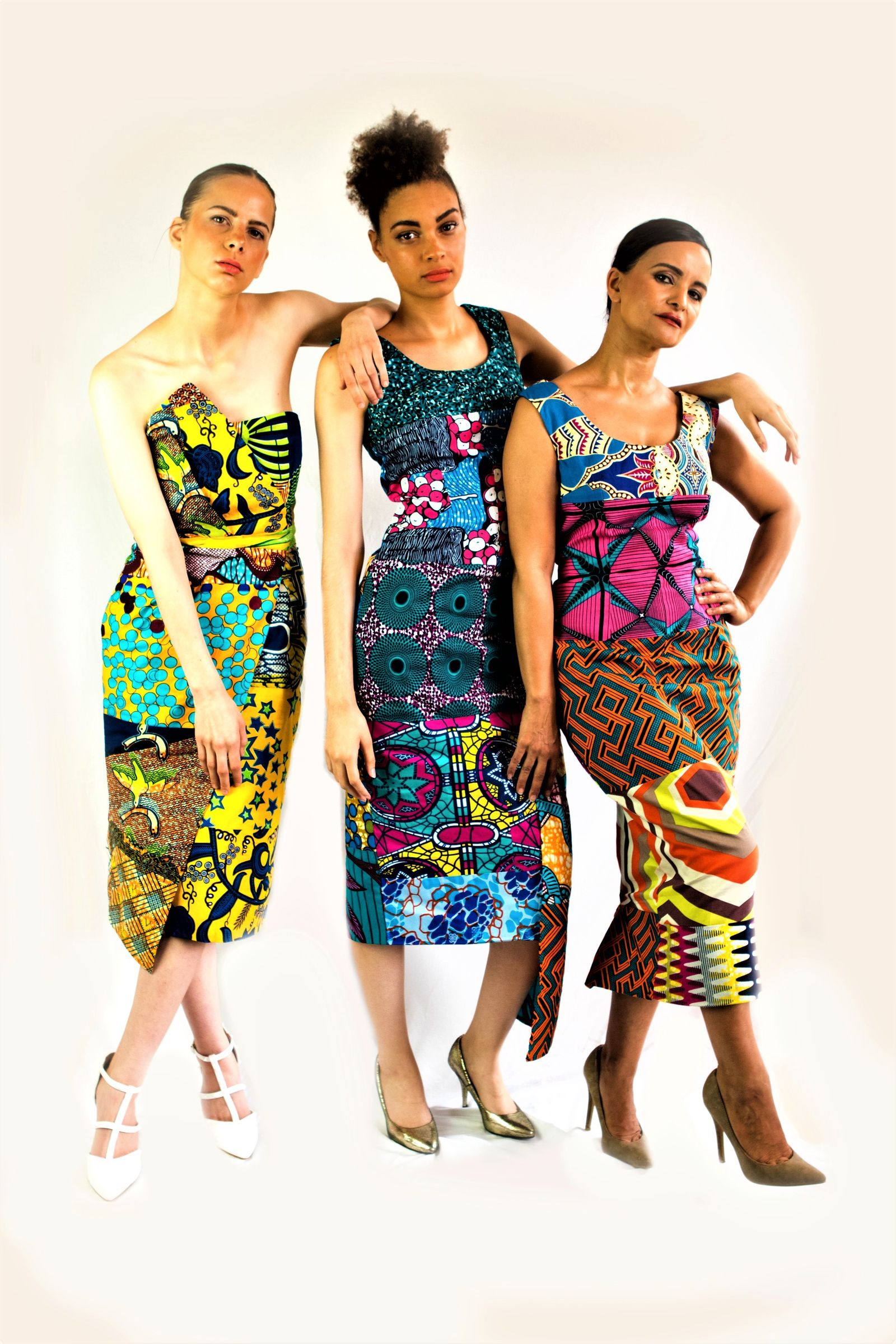 fitted African dress sosome uk