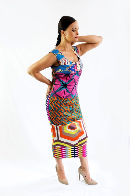Fitted Midi Dress - product images  of