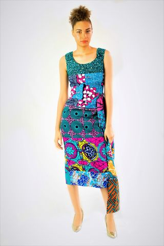 Sasha,Blue,Fitted,Ankara,Dress,Pencil dress, Fitted dress, blue Ankara dress, turquoise, Green Ankara dress, Pencil African dress, Fitted African dress, Pink dress, Green Dress, African, Ankara, Print