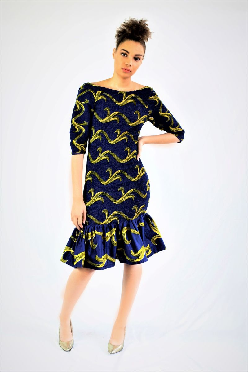 Stretch Fit Ankara Dress - product images  of
