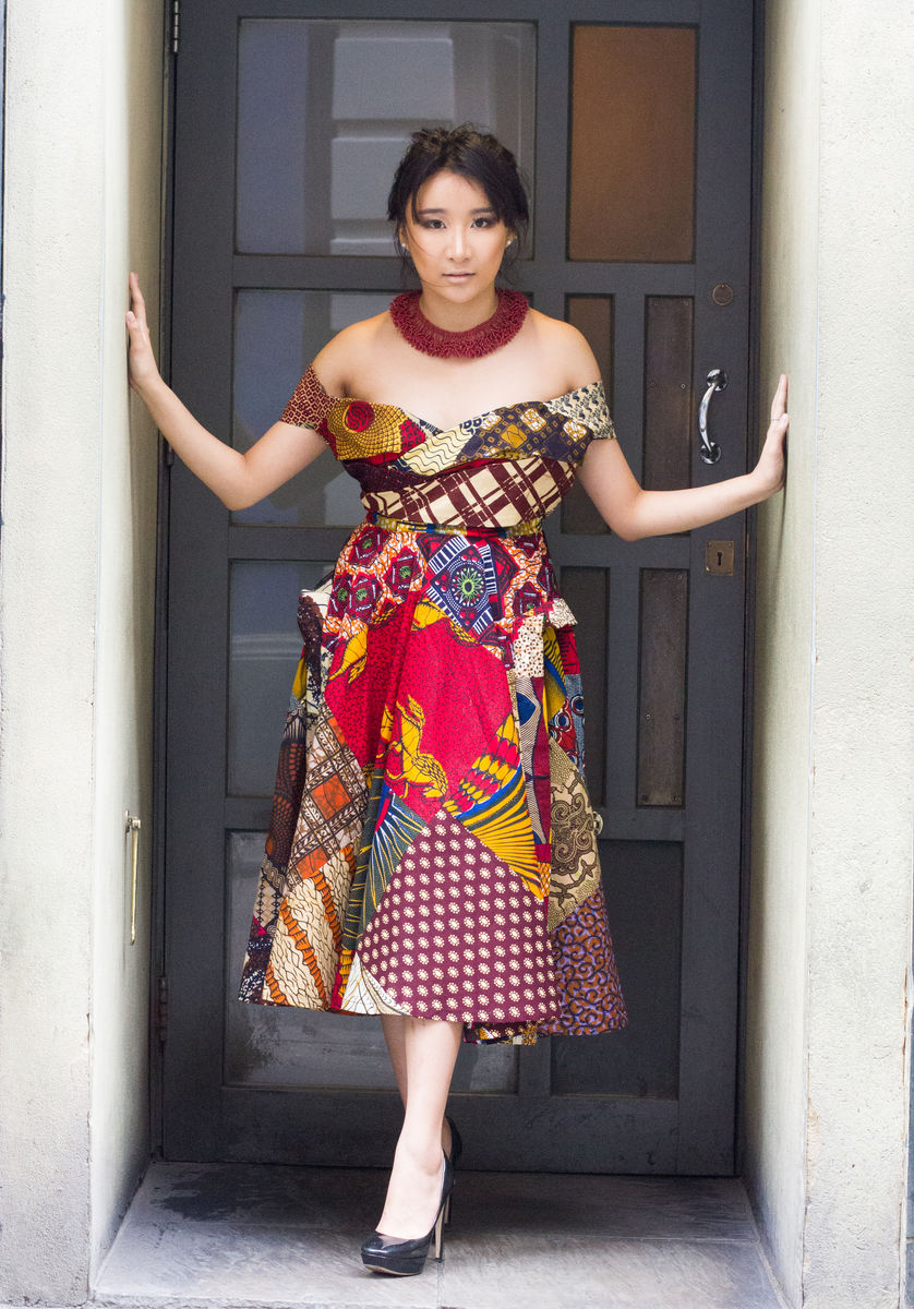 Oris Red African Ankara Dress - product images  of