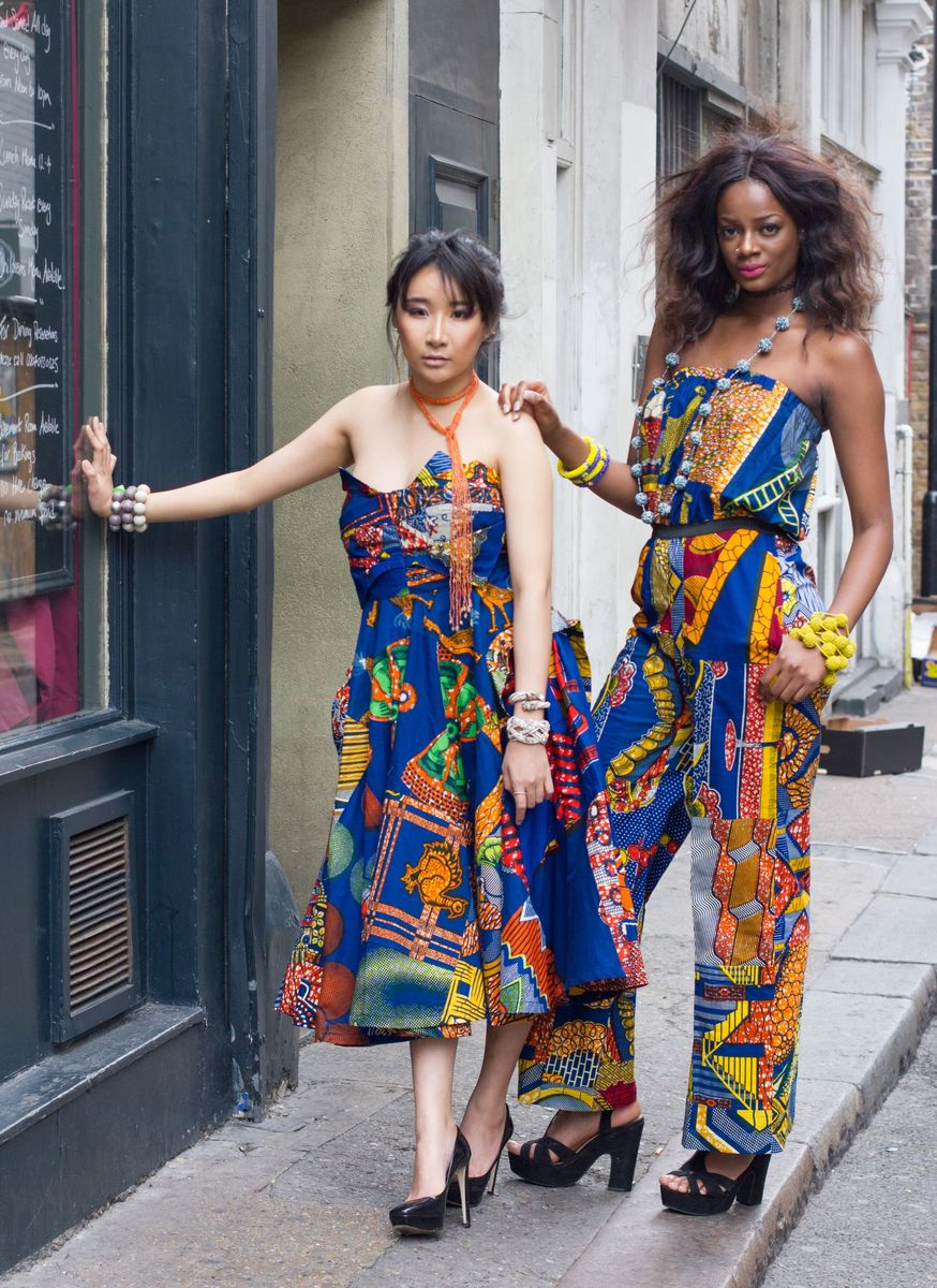 Christina Blue African Ankara Dress - product images  of