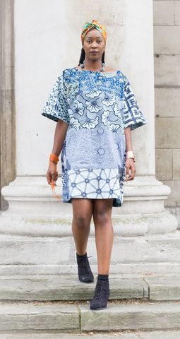 Carla,blue,African,Ankara,Tunic,Dress, Dress, Hood, Hooded, Hoodie, blue, embroidery, African tunic, Ankara tunic, blue African dress, blue short African dress, short African dress, African fashion, Ankara fashion dress
