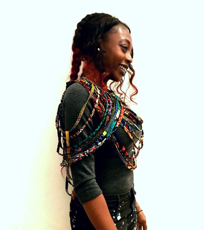 Rope African Ankara shoulder necklace accessories - product images  of