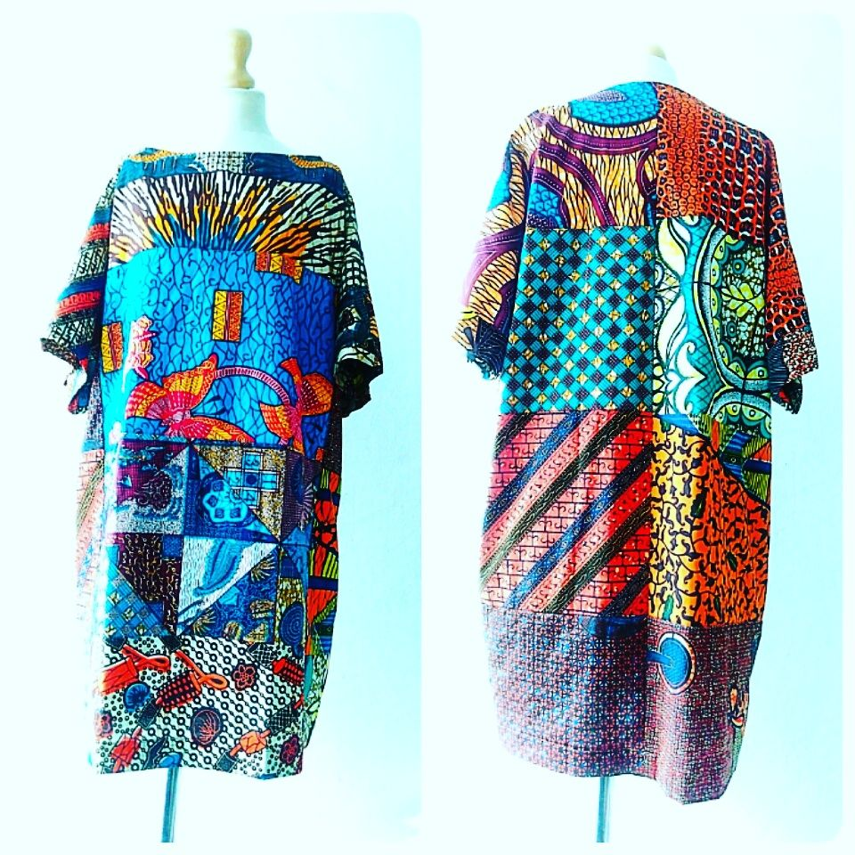 Carla original mix African Ankara Tunic Dress - product images  of