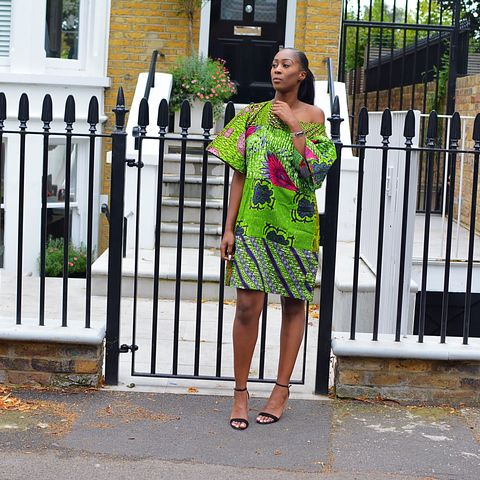 Carla,Green,mix,African,Ankara,Tunic,Dress, Dress, Green, red, turquoise, blue, embroidery, African tunic, Ankara tunic, blue African dress, blue short African dress, short African dress, African fashion, Ankara fashion dress