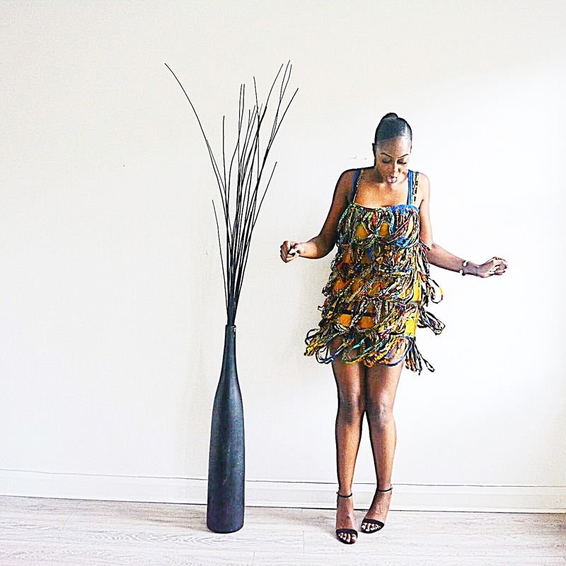 Riri Rope African print Dress - product images  of