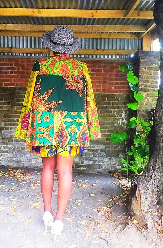 Kira Green African print Jacket  - product images  of