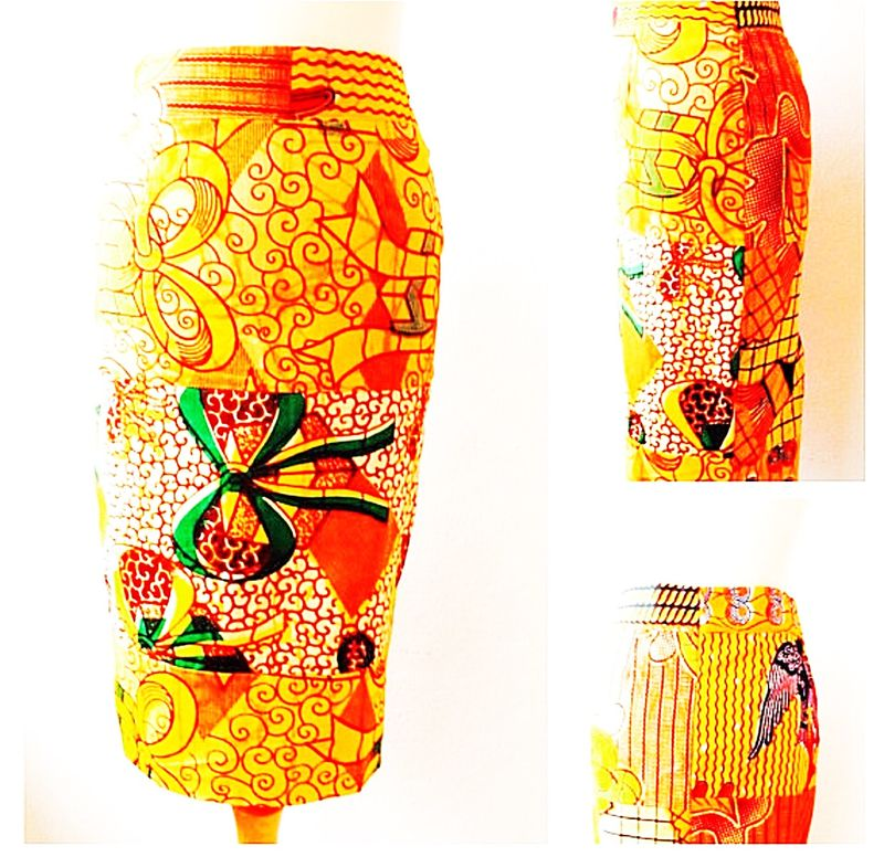 African Ankara High Waist Pencil skirt - product images  of