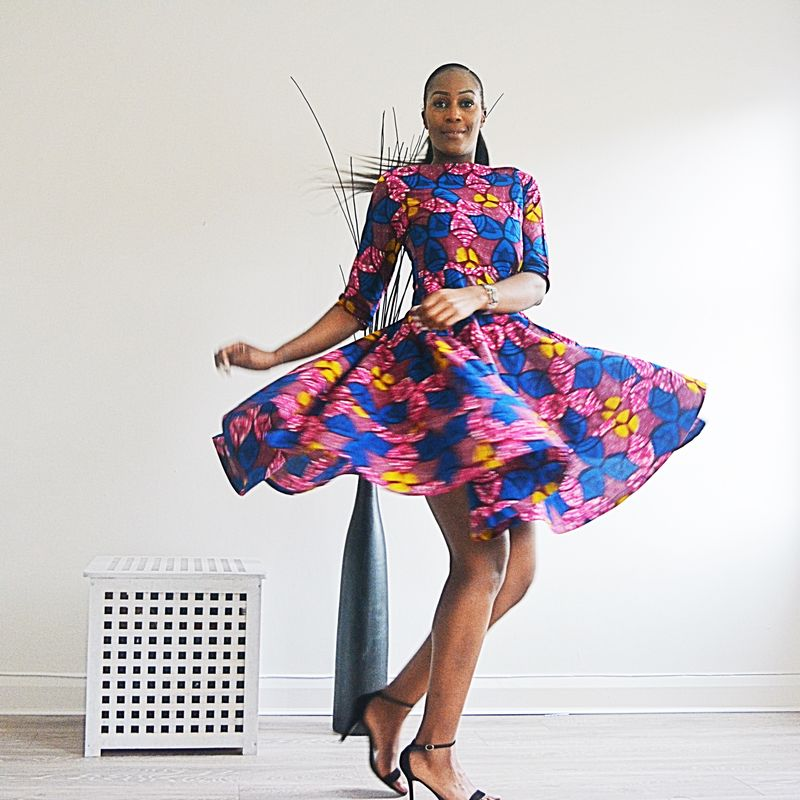 Milly Pink African Ankara Dress - product images  of