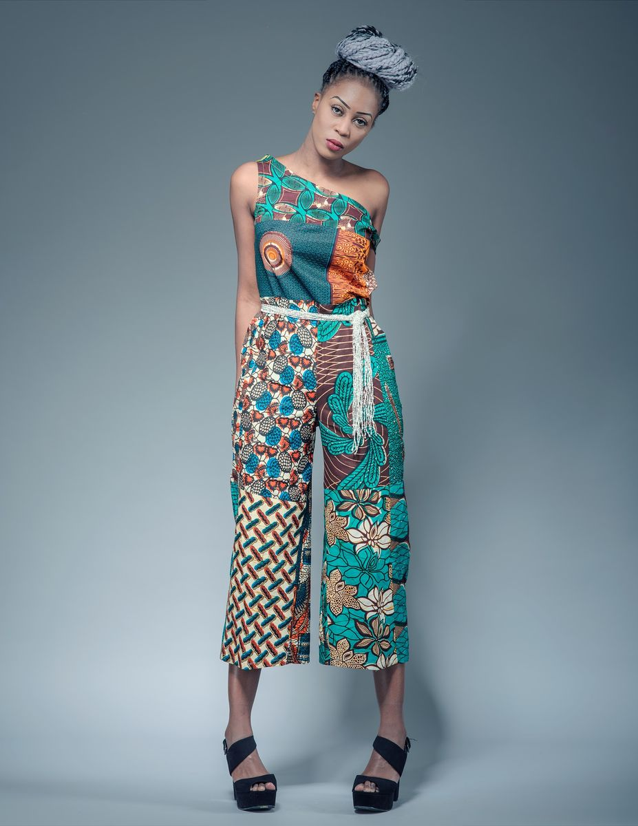 Cropped African Jumpsuit - product image