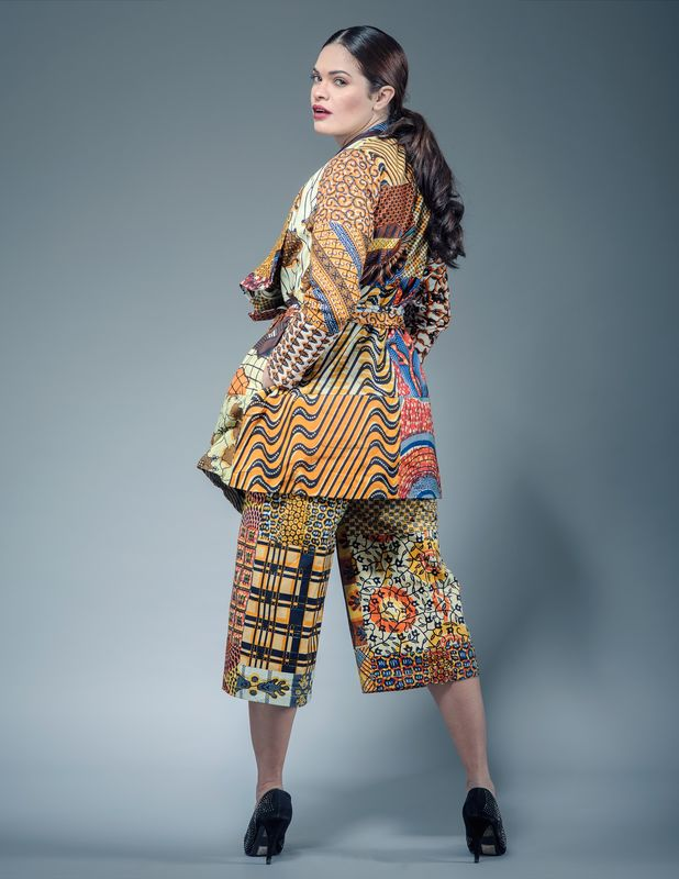 Cropped African Jumpsuit - product images  of