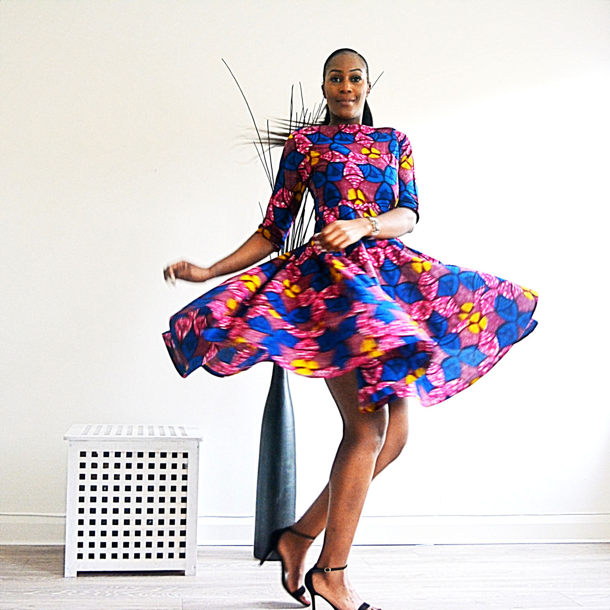 Milly Pink African Ankara Dress - product image