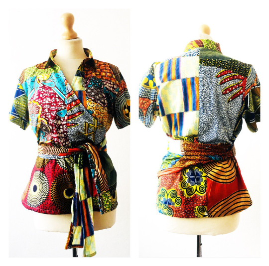 African print wrap Ankara Top - product images  of
