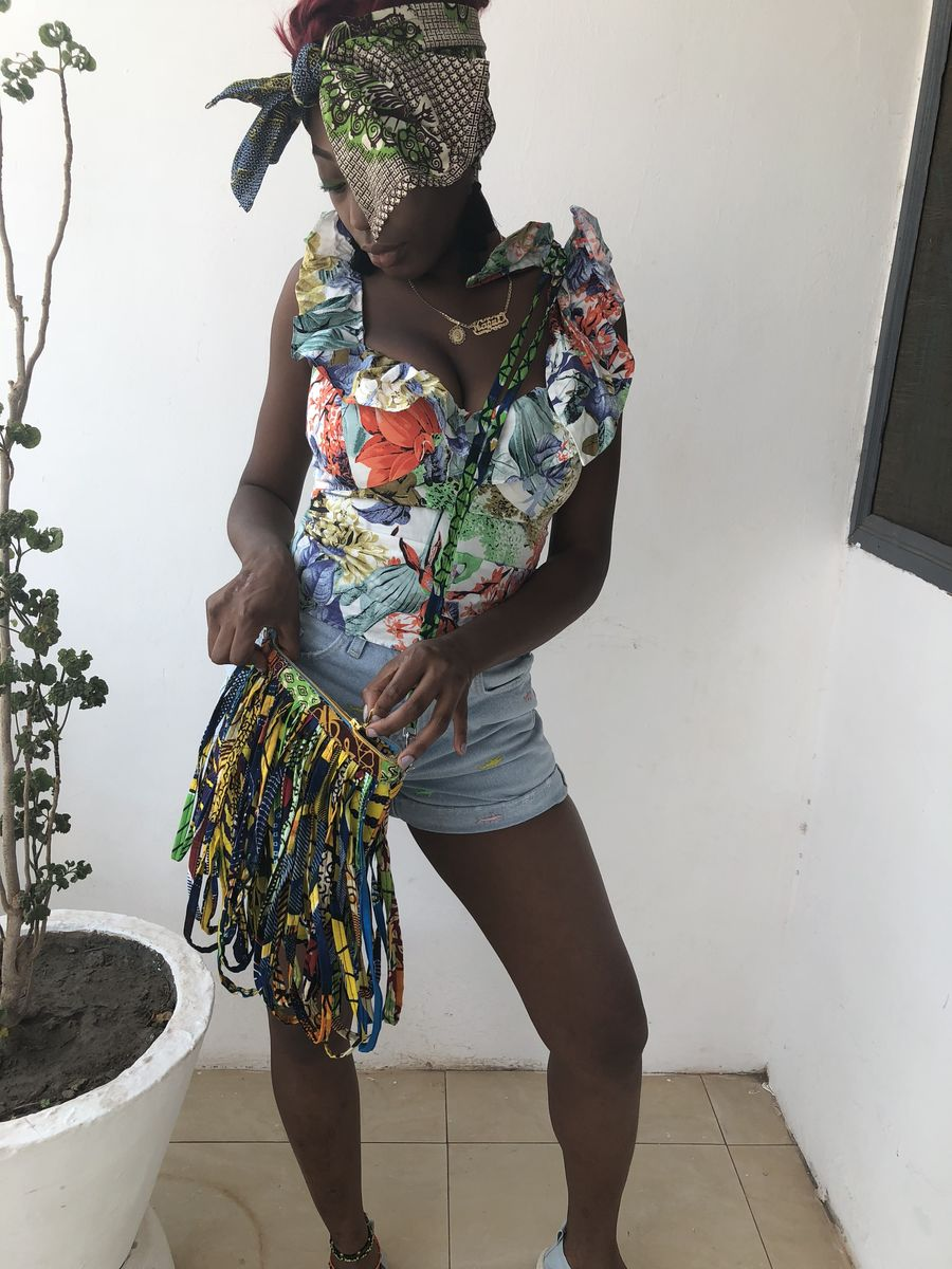 Rope African Ankara bag accessories - product images  of