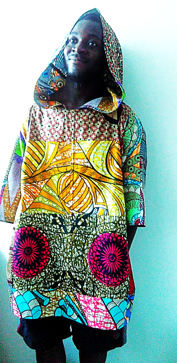 African print Unisex hood Tunic - product images  of