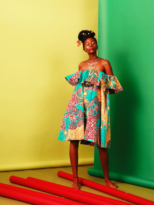 African Ankara off shoulder Dress - product images  of