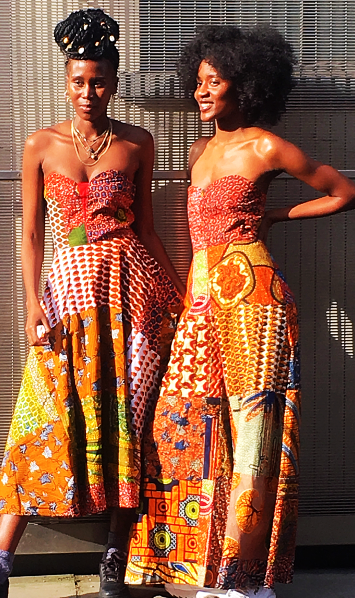 African orange wide leg Jumpsuit - product images  of