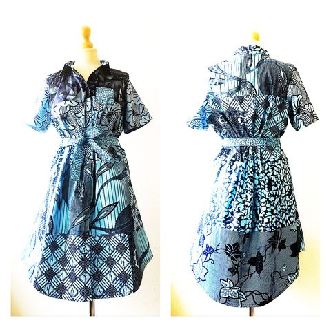 African,Ankara,Shirt,Dress,Shirt dress, Green dress, african shirt dresses, Work Ankara dress, Green Ankara dress, Blue shirt African dress, Blue African dress, Pink dress, Green Dress, African, Ankara, Print