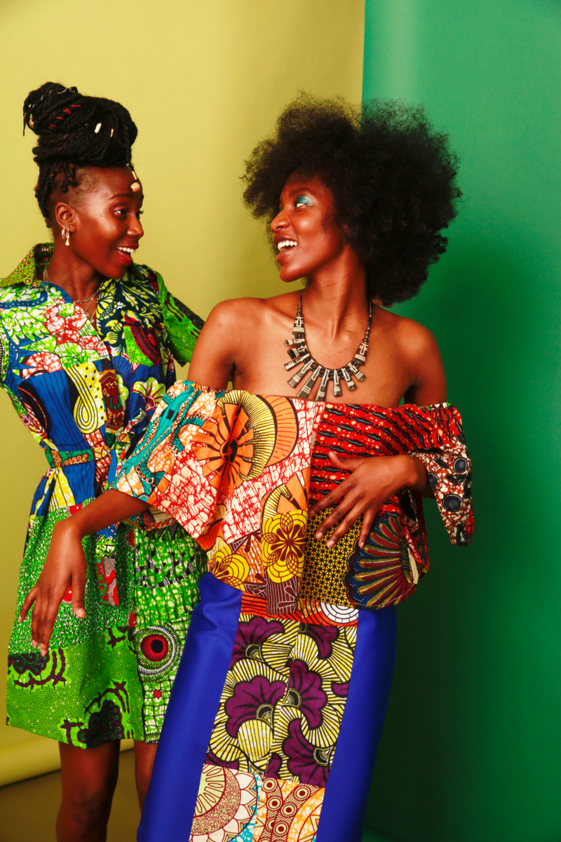 Stretch off shoulder  African Ankara Dress - product images  of