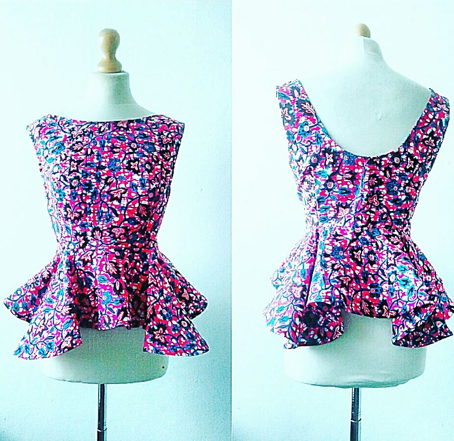 Peplum African Ankara Top - product images  of