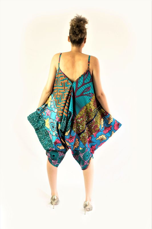 Contemporary African print Ankara Harem Jumpsuit - product images  of